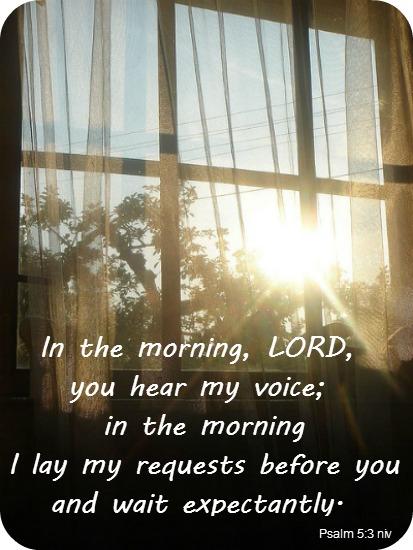 Psalm 5:3 niv – Day of Grace